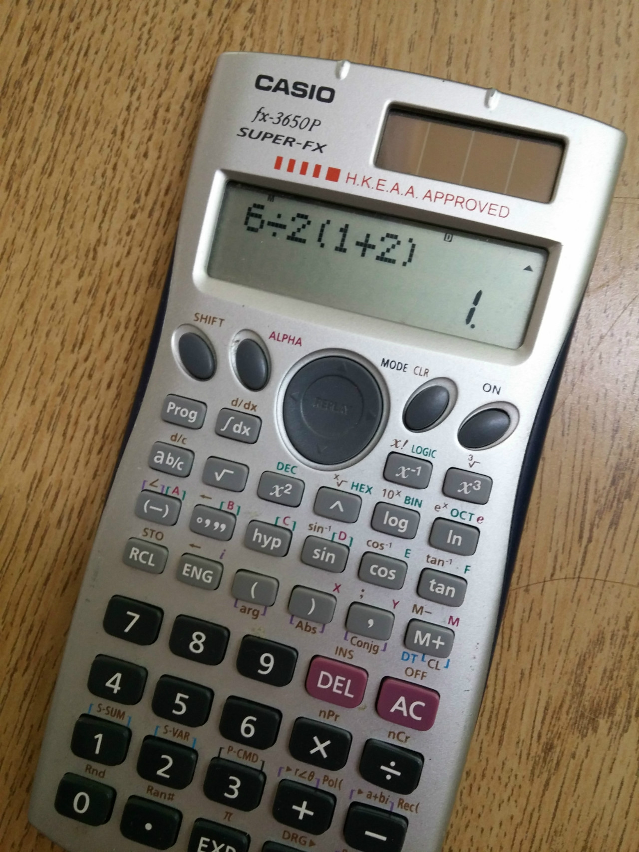 My Casio calculator thinks that is 1.